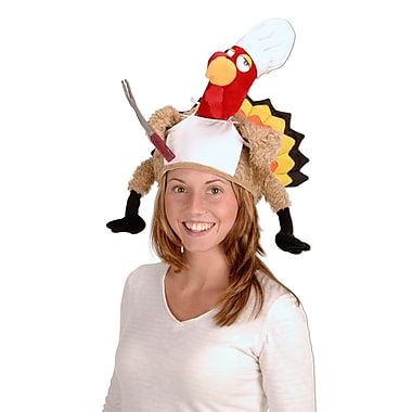 Plush Chef Turkey Hat, One Size Fits Most