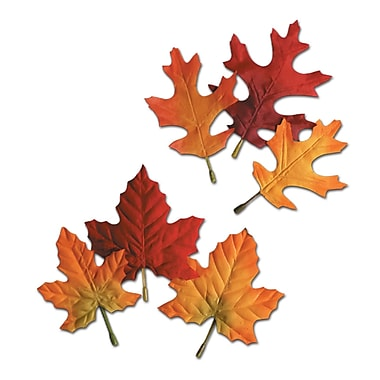 Fabric Autumn Leaves, Assorted Sizes, 4-1/2
