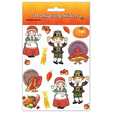 Pilgrim & Turkey Stickers, 4-3/4