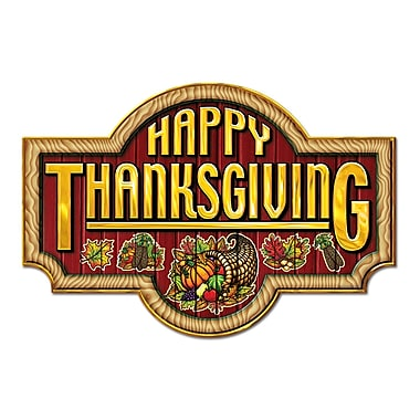 Happy Thanksgiving Sign, 12