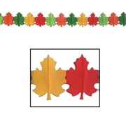 "Beistle 9"" x 12' Fall Leaf Garland, 3/Pack"