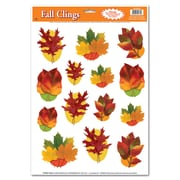 "Beistle 12"" x 17"" Autumn Leaf Clings, 98/Pack"