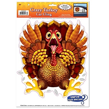 Crazy Turkey Car Cling, 12