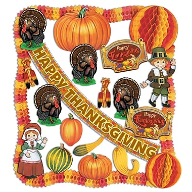 Beistle 24-Piece Thanksgiving Decorating Kit
