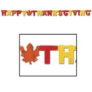 Banderole métallisée « Happy Thanksgiving », 4 1/4 po x 6 pi, 4/paquet