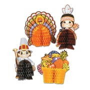 "Beistle 4"" - 5"" Thanksgiving Playmates Centerpiece, 12/Pack"