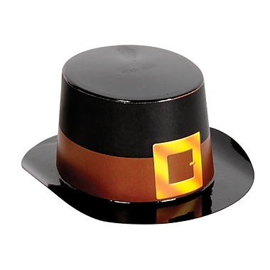 Mini Black Plastic Topper With Buckle Band, 4-3/4