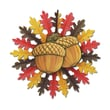 Beistle 22in. Acorn Hanging Decoration, Red/Brown/Yellow, 12/Pack