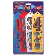 "Beistle 2"" x 8"" 1st 2nd 3rd 4th Place Award Pack Ribbons, 8/Pack"