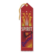 Beistle 2 x 8 Spirit Award Ribbon, Red, 9/Pack