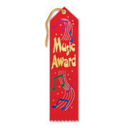 "Beistle 2"" x 8"" Music Award Ribbon, 9/Pack"