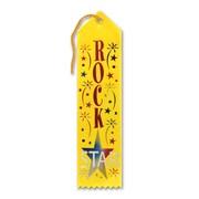 "Beistle 2"" x 8"" Rock Star Award Ribbon, Yellow, 9/Pack"