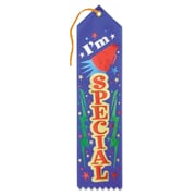 Beistle 2 x 8 I'm Special Award Ribbon, Blue, 9/Pack
