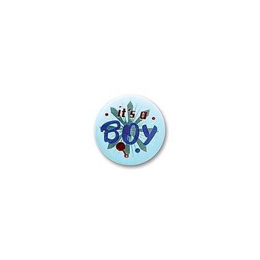 Light Blue It's A Boy Satin Button, 2