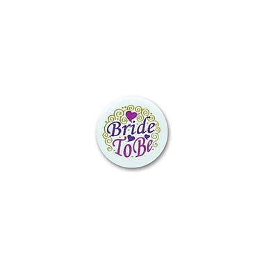 Macaron satiné « Bride To Be » 2 po, paquet de 6
