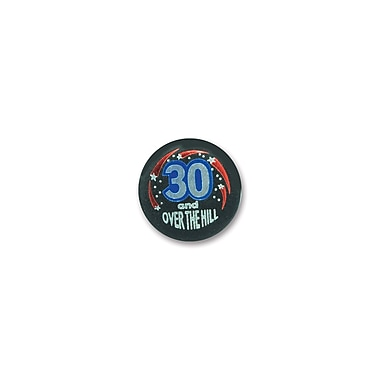 30 & Over-The-Hill Satin Button, 2