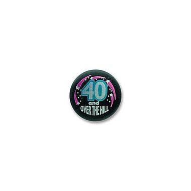 Macaron satiné « 40 & Over the Hill », 2 po, paquet de 7