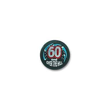 60 & Over-The-Hill Satin Button, 2