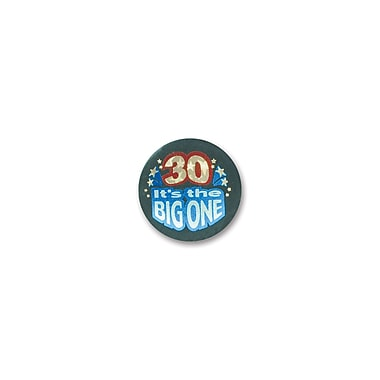 Macaron satiné « 30 It's The Big One », 2 po, paquet de 7