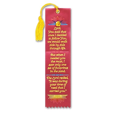 Beistle Footprints In The Sand Jeweled Bookmark, 2