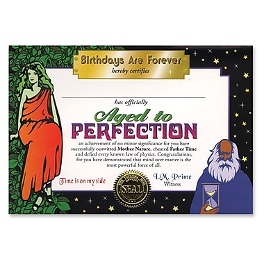 Beistle Aged To Perfection Certificate, 5