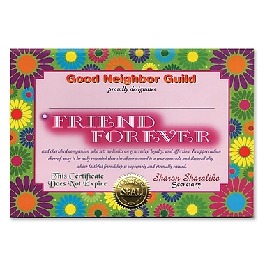 Beistle Friend Forever Certificate, 5