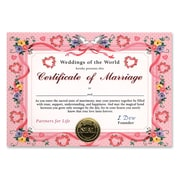 """Beistle Certificate Of Marriage, 5"""" x 7"""""""
