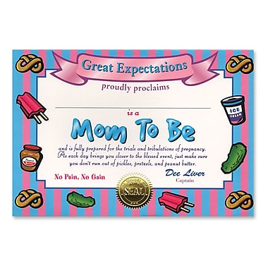 Beistle Mom To Be Certificate, 5