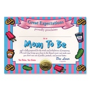 """Beistle Mom To Be Certificate, 5"""" x 7"""""""