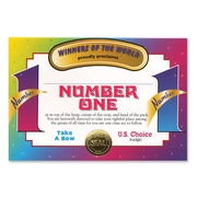 """Beistle Number One Certificate, 5"""" x 7"""""""