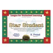 "Beistle Star Student Certificate, 5"" x 7"""