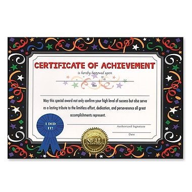 Beistle Certificate Of Achievement, 5
