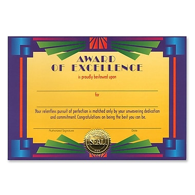 Beistle Award Of Excellence Certificate, 5