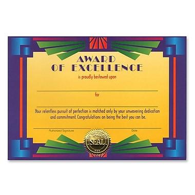 Certificat d'excellence, 5 po x 7 po, paq./7
