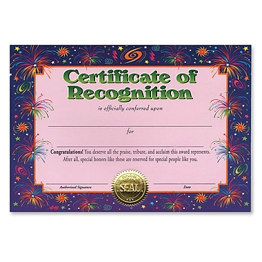 Beistle Certificate Of Recognition, 5