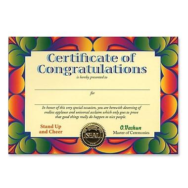 Beistle Certificate Of Congratulations, 5