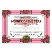 """Beistle Mother Of The Year Certificate, 5"""" x 7"""""""