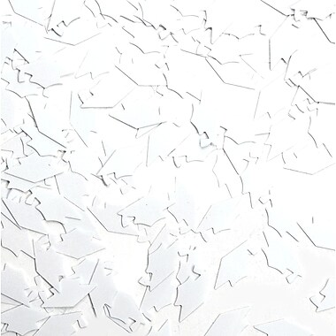 Grad Caps Confetti, White, 5/Pack