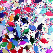 Beistle 1 Graduation Caps & Stars Confetti, Multicolor, 5/Pack