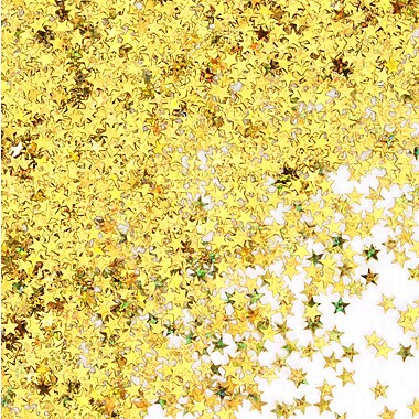 Gold Holographic Stars Confetti, 5/Pack