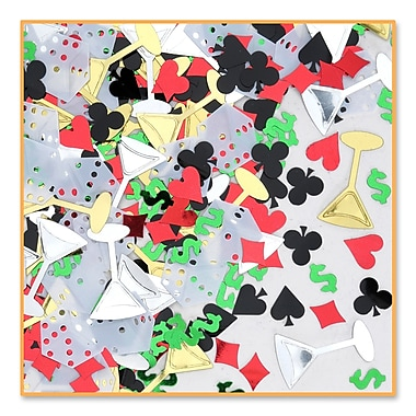 Casino Night Confetti, 5/Pack