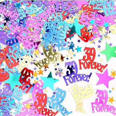Beistle 39 Forever Confetti, Multicolor, 5/Pack