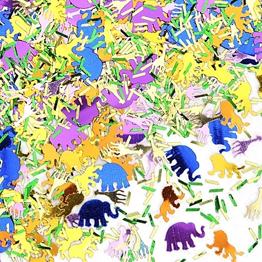 Confettis safari en jungle, paquet de 5