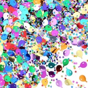 Balloons and Stars Confetti, 5/Pack