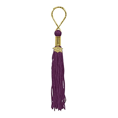 Tasseled Key Chain, Maroon, 5/Pack
