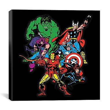 iCanvas Marvel Comics Character Avengers Lineup Graphic Art on Wrapped Canvas