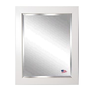 Rayne Mirrors Jovie Jane Glossy White Wall Mirror; 29.5'' H x 25.5'' W x 0.75'' D