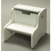 Gift Mark 2-Step Storage Step Stool; White