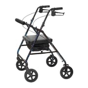 ProBasics by Invacare Bariatric Rollator Rolling Walker; Blue