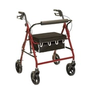 ProBasics by Invacare Bariatric Rollator Rolling Walker; Burgundy